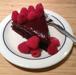 37 Cooks: Have a Happy National Raspberry Cake Day with Chocolate Raspberry Upside-Down Cake!