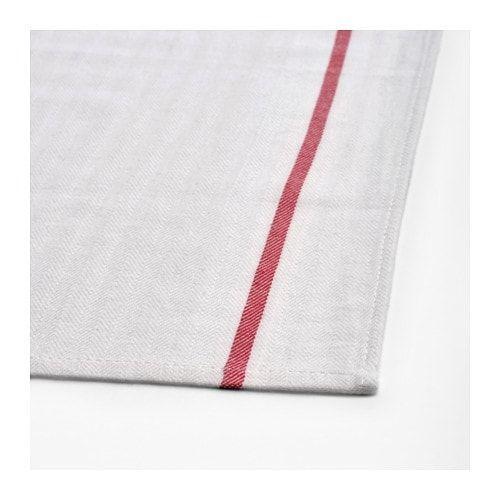 TEKLA Dish towel, white, red | Poplar Street | White towels ...