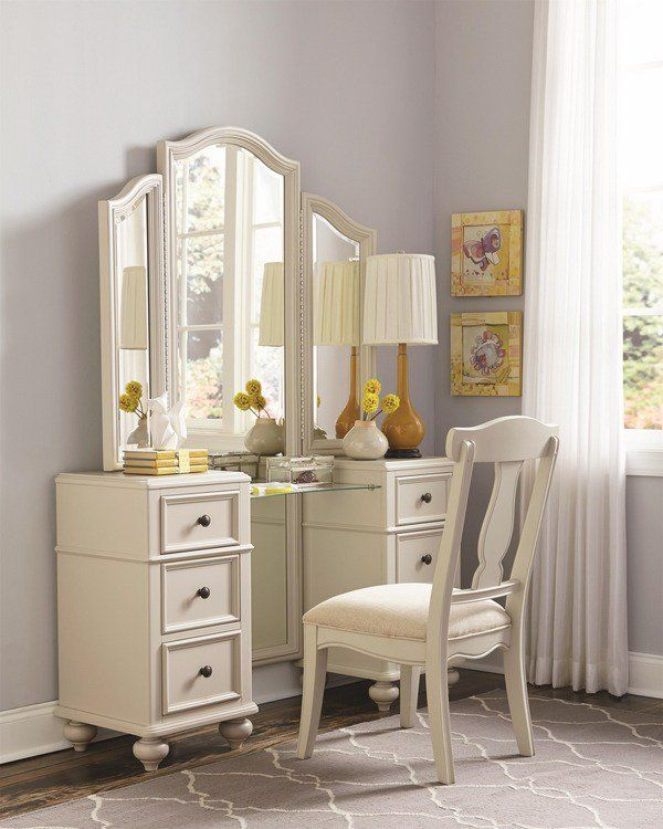 White Bedroom Furniture Teen Girl Bedroom Furniture Ideas Dressing Table Tri Fold Mirror