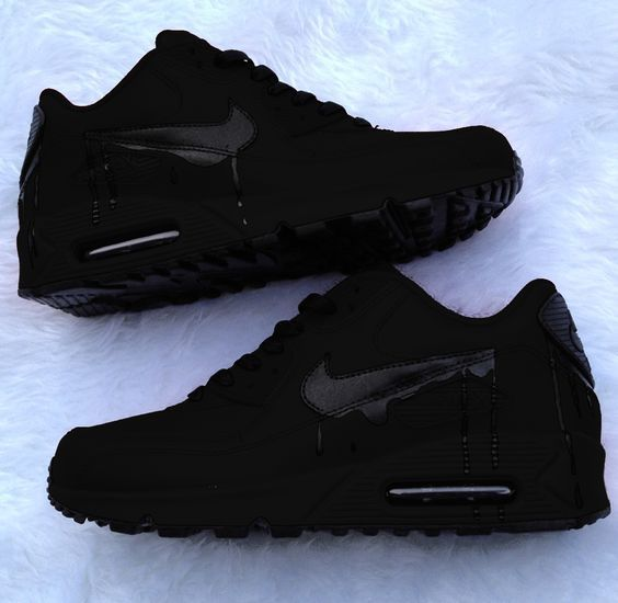 all black Nikes. | Me too shoes, Sneaker stores, Crazy shoes