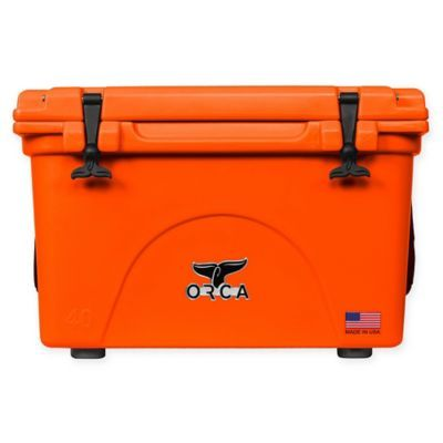 Orca 40 Qt Standing Cooler In Blaze Orange Yeti Cooler Cooler Box Cleaning Wipes
