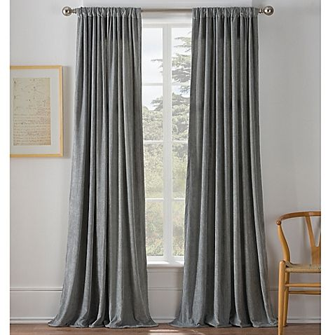 Warren 108 Inch Window Curtain Panel In Grey Curtains Silver