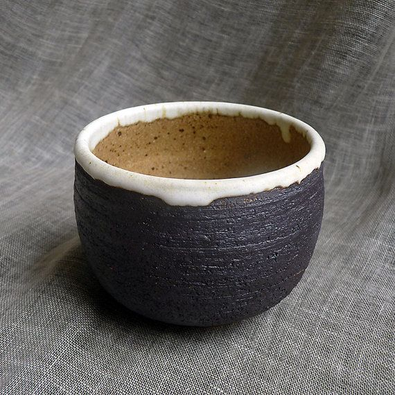 Brown rustic pottery bowl. Matte glaze bowl. by FourSeasonsPottery, $35.00