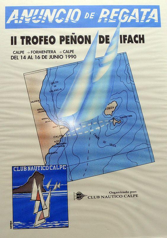 Regata #CalpeFormentera  II Trofeo Peñón de Ifach 1990 www.rcnc.es