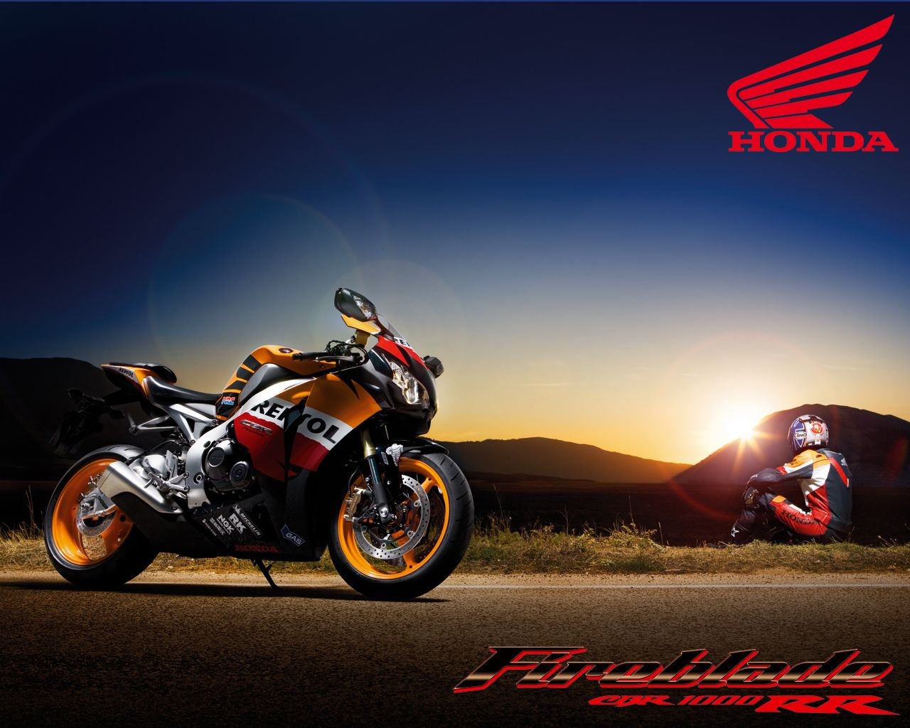 Honda Repsol Wallpaper Motorcycle: Repsol Honda Cbr Motogp On Sunset In Montain Wallpaper