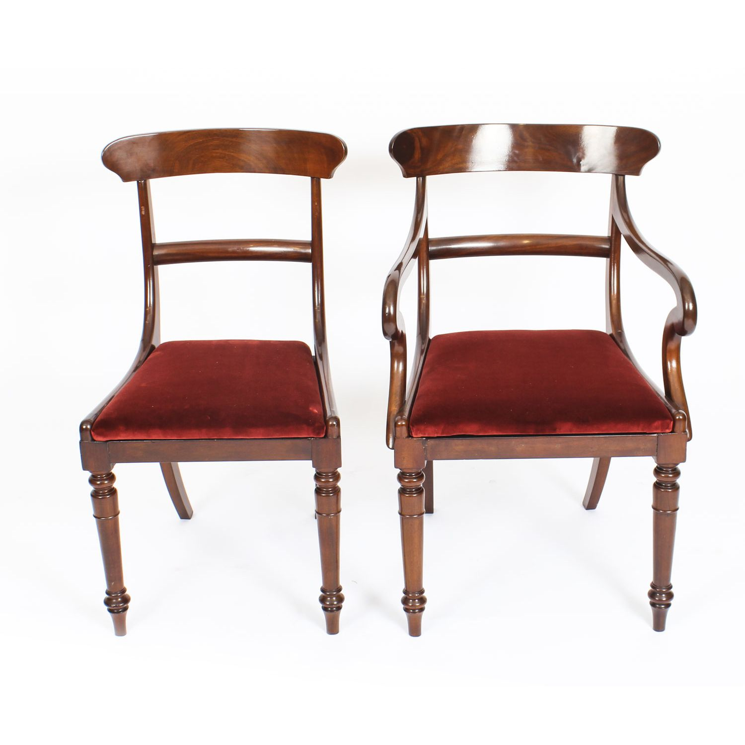 Antique Pair of Mahogany Desk Chairs 19th C