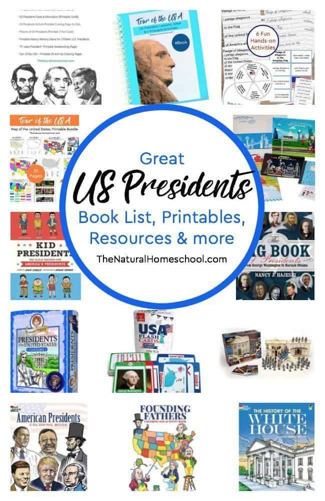 Photo of Great US Presidents Book List, Printables, Resources & more – The Natural Homeschool