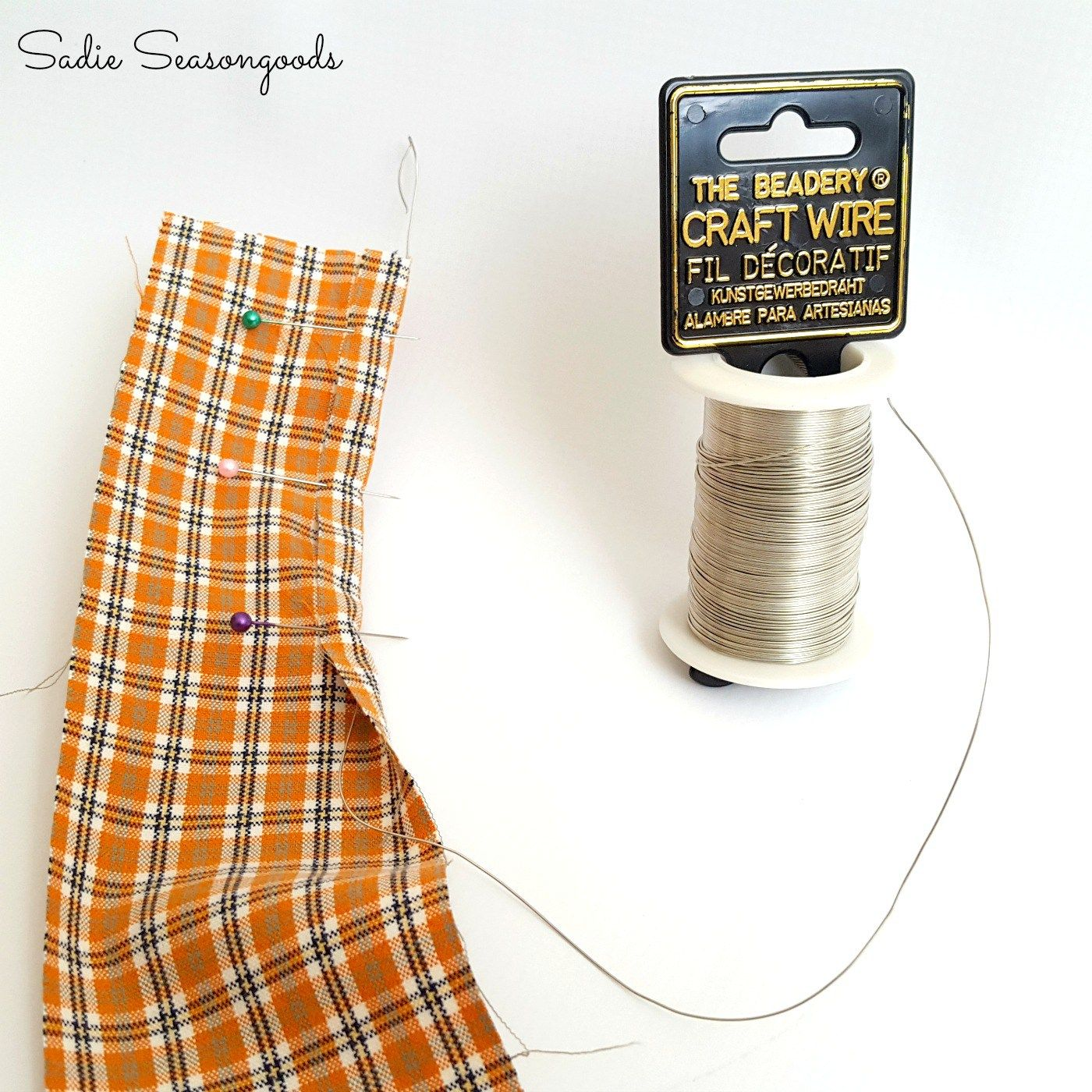 Make-your-own Wired Ribbon from a Thrift Store Plaid Shirt! | Wired ...