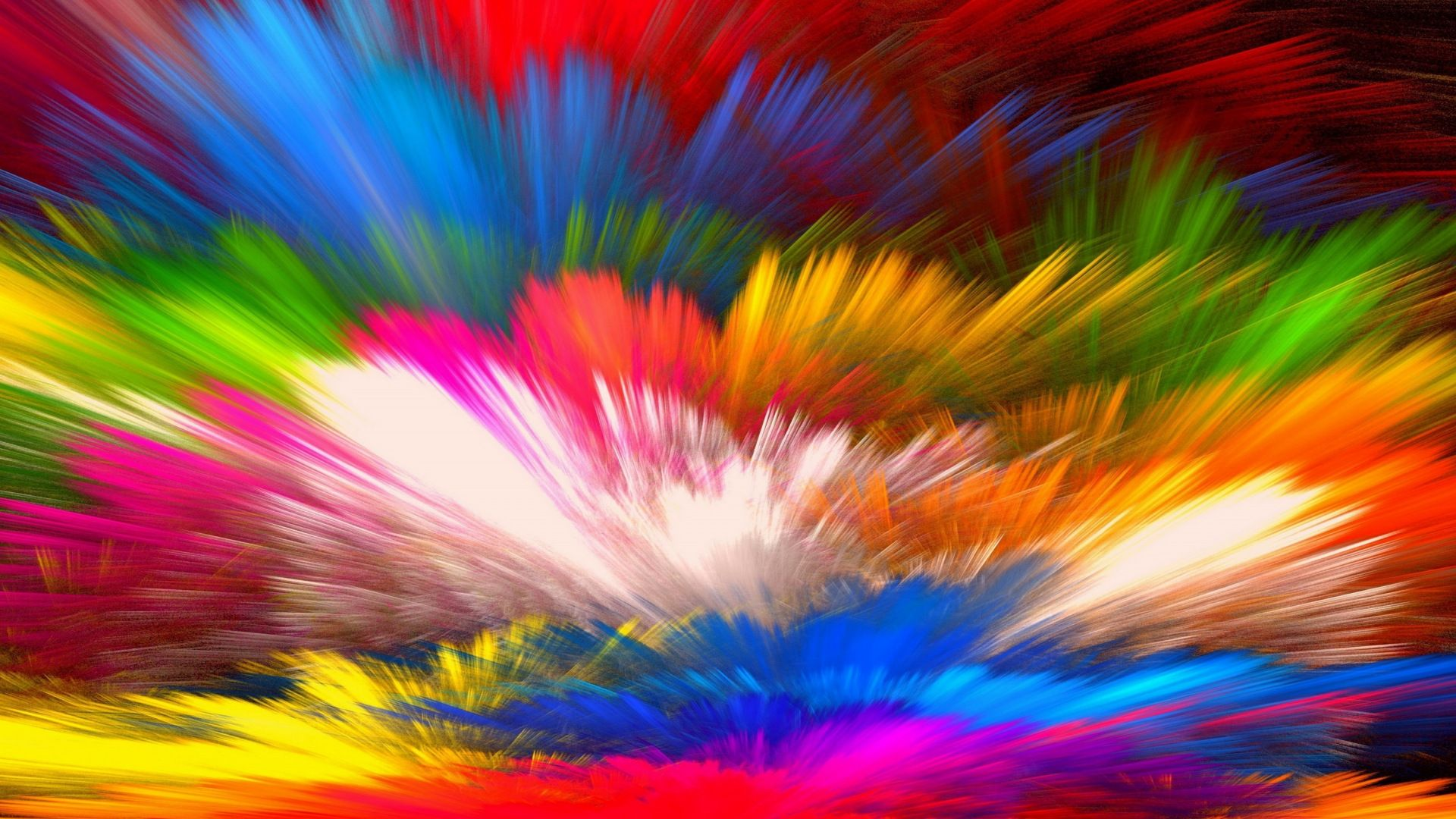 Colorful threads, abstract, 1920x1080 wallpaper Abstract