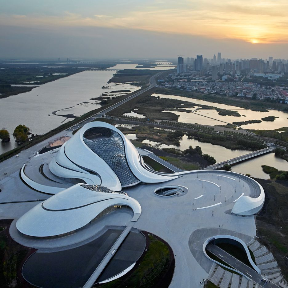 Mad 39 s sinuous harbin opera house completes in north east for Beijing opera house architect