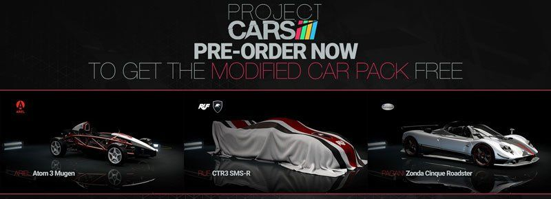 Project Cars Xbox One Ps4 4k Graphics Vr Project Morpheus Oculas Rift The Modified Car Pack Includes 3 Extra Cars The Extra Cars Are Modified Cars Car Packing