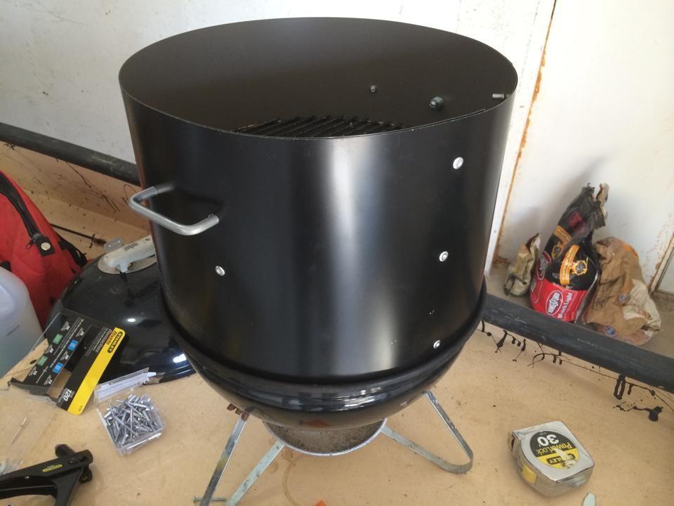 weber smokey joe modifications bbq smoker pinterest. Black Bedroom Furniture Sets. Home Design Ideas