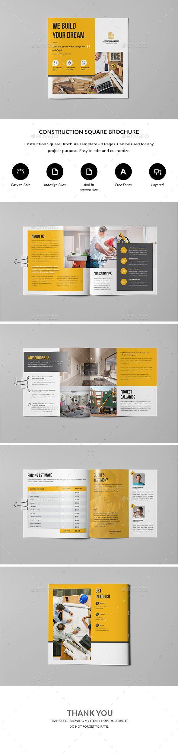 construction brochure corporate brochures l pinterest