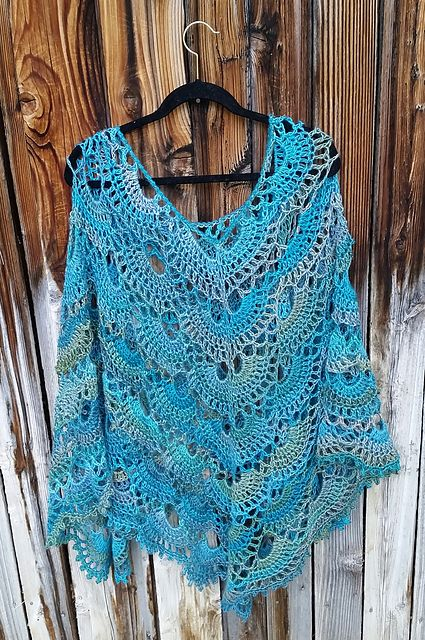 Ravelry Spooky60's Darlene's Virus Poncho Patterns Paca Paints Amazing Crochet Poncho Pattern Ravelry