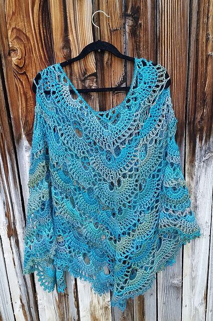 Ravelry Spooky40's Darlene's Virus Poncho Patterns Paca Paints Gorgeous Crochet Poncho Pattern Ravelry