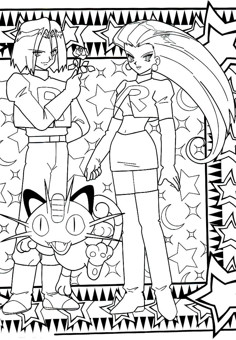 teamrocket coloringpage coloring pages