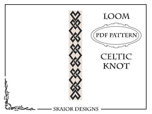Loom Beading Pattern Celtic Knot Bracelet Seed Bead por