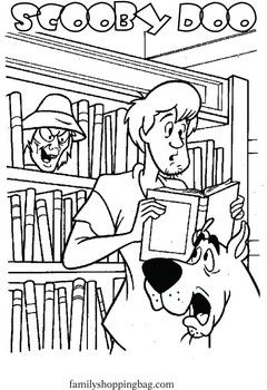 Scooby Shaggy Library, Scooby Doo, Coloring Pages - Free Printable ...