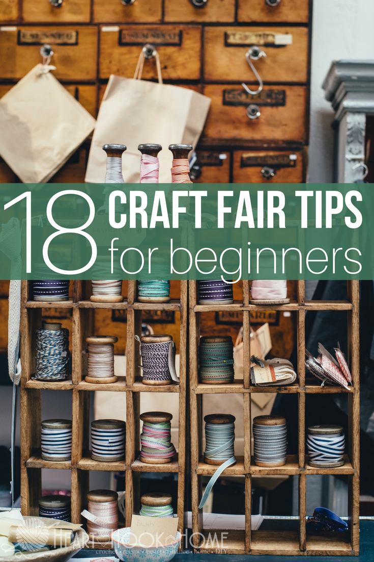 18 Tips for Working Your First Craft Show Like a Boss #craftfairs