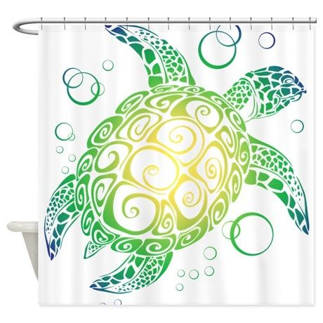 Sea Turtle Shower Curtain By Awesomesauce Sea Turtle Art Decor
