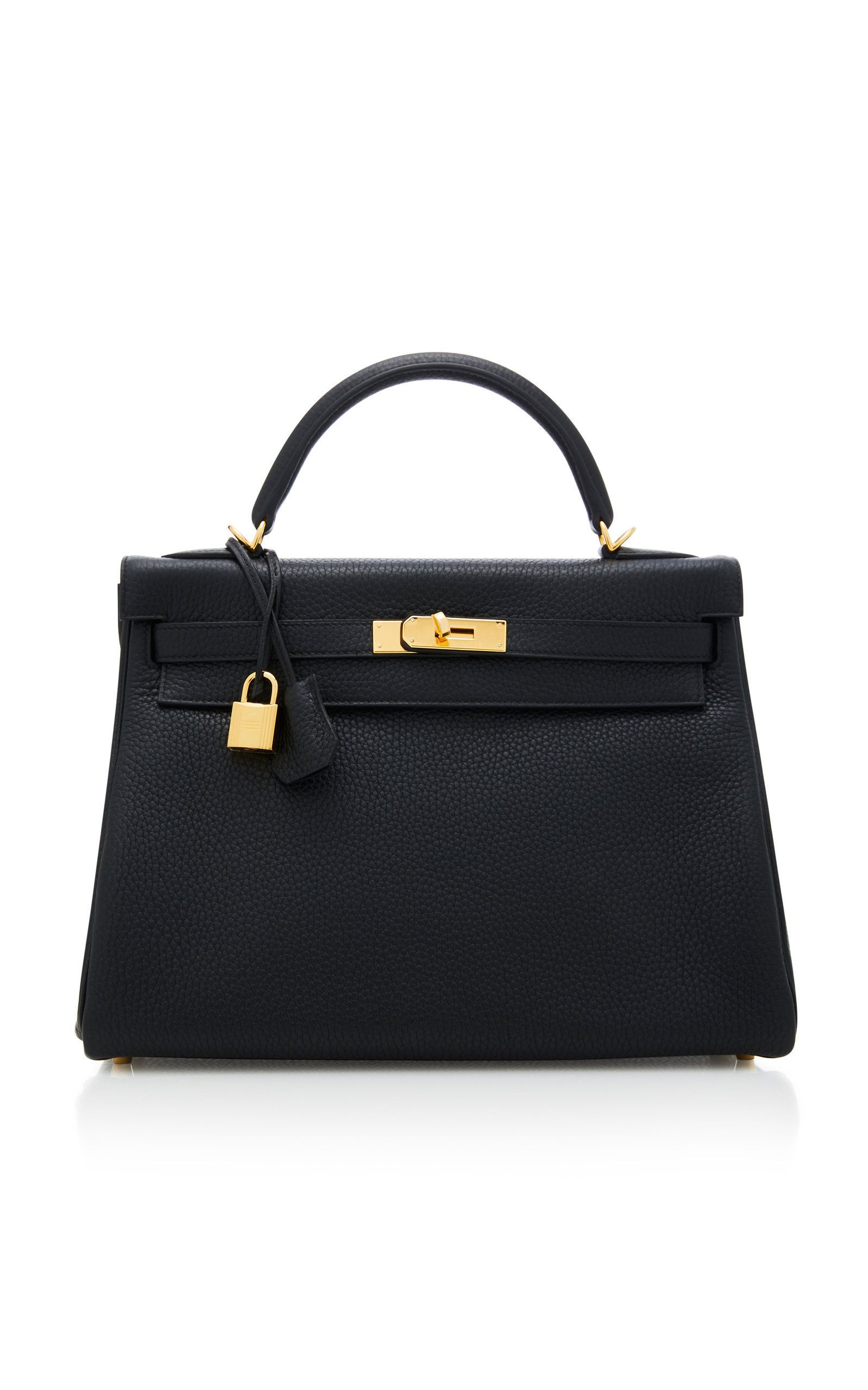 87cbcdfcf057 Hermes Black Clemence Leather Kelly by HERMES VINTAGE for Preorder on Moda  Operandi