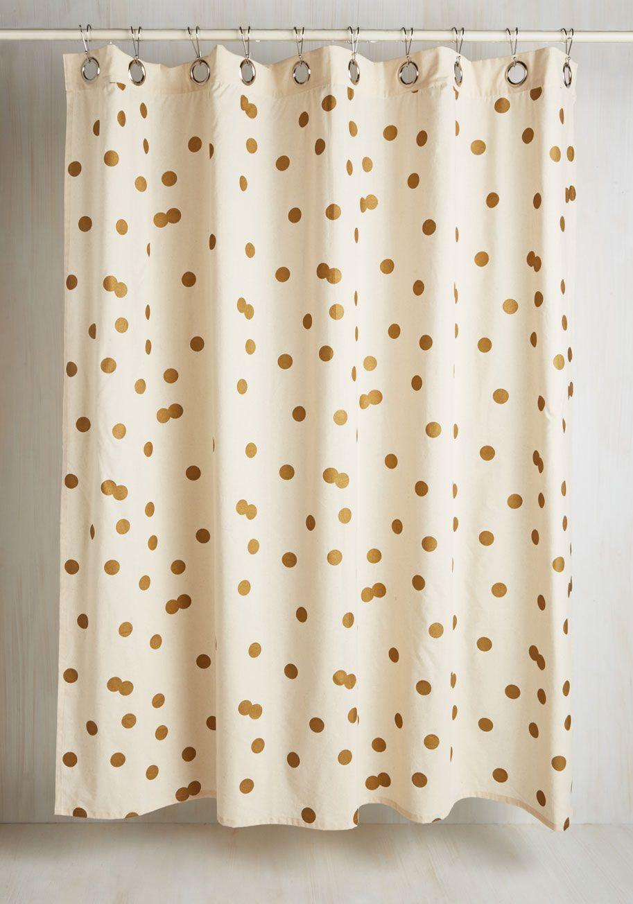 Pizzazz Good As Gold Shower Curtain Modcloth
