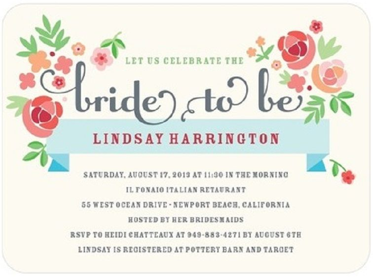 Bridal Shower Invitation Etiquette Timing Party Invitation Card