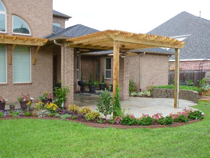 Houston Landscaping Ideas Larsen Backyard Landscape
