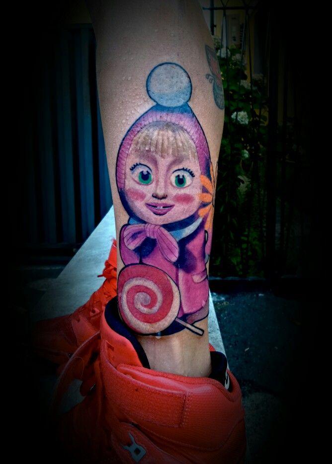 Masha and the bear tattoo color