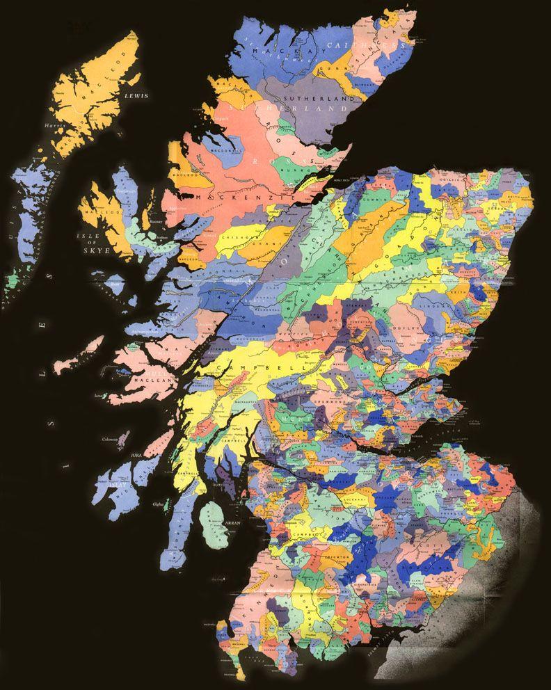 Scotland Clan Map Scottish clan map | Favorite Places & Spaces | Scotland, Scottish  Scotland Clan Map