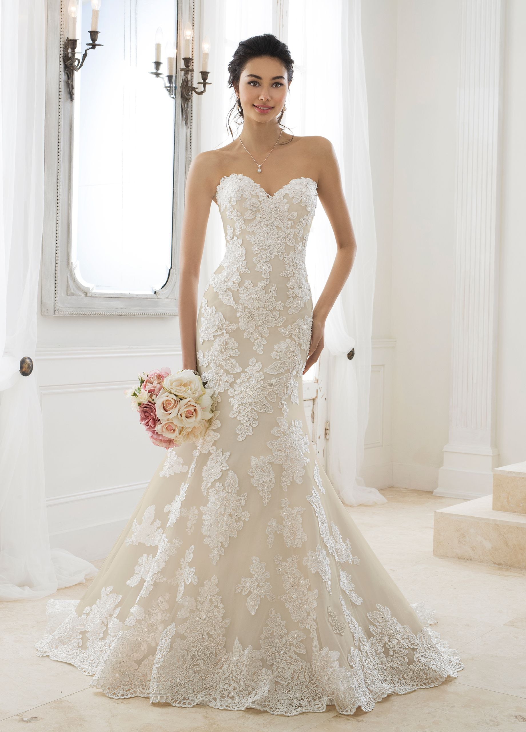 Lace Fit Flare Wedding Dress