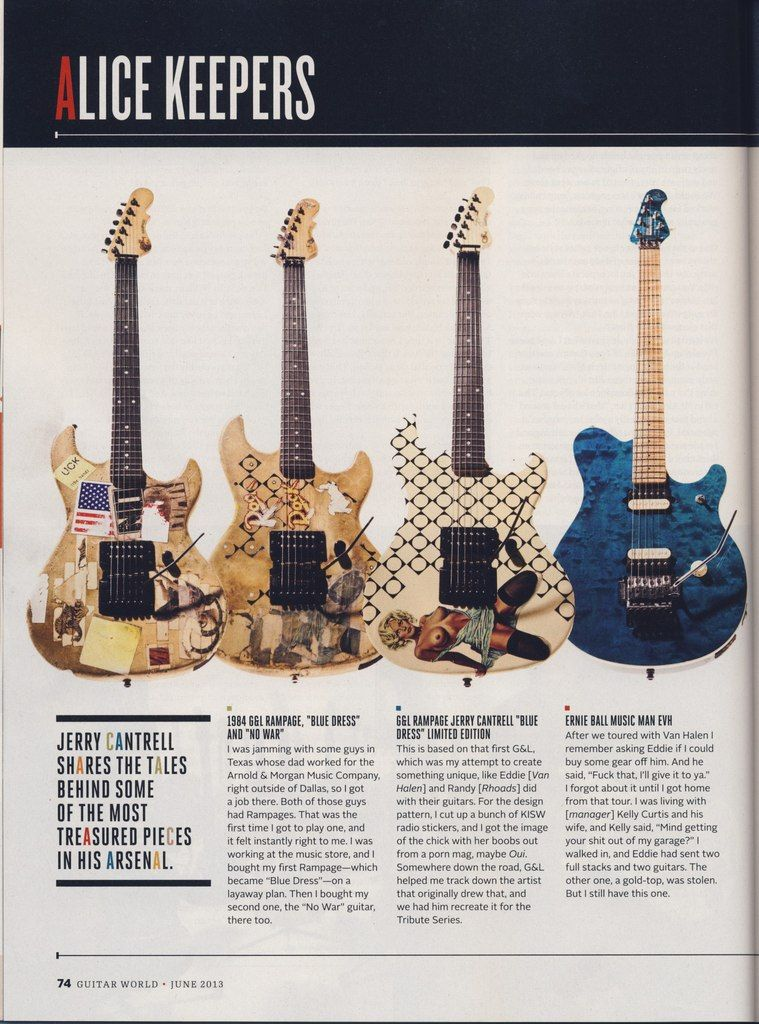 Jerry Cantrell interviewGuitar World June 2013 (With
