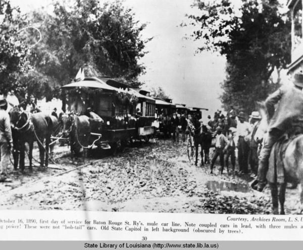 B W Photo October 16 1890 1st Day Of Service For Mule Cars In