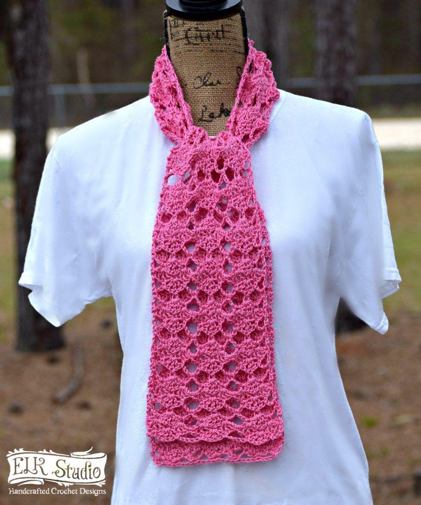 Sweet Pink Spring Scarf by ELK Studio | Gehäkelten schal, Schals und ...