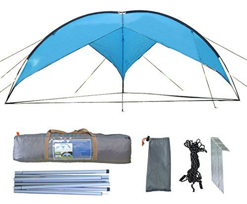 Zoophyter 157 x 157 ft Beach Sun Shade Shelter Canopy Tent With Guy Line Stake Kit  sc 1 st  Pinterest & Zoophyter 157 x 157 ft Beach Sun Shade Shelter Canopy Tent With ...