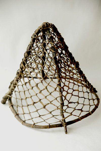 Eskimo Net An Eskimo Fishing Net Made Of Wood And Sinew Circa 1950 Or Before Fishnet Fishing Basket Net Making