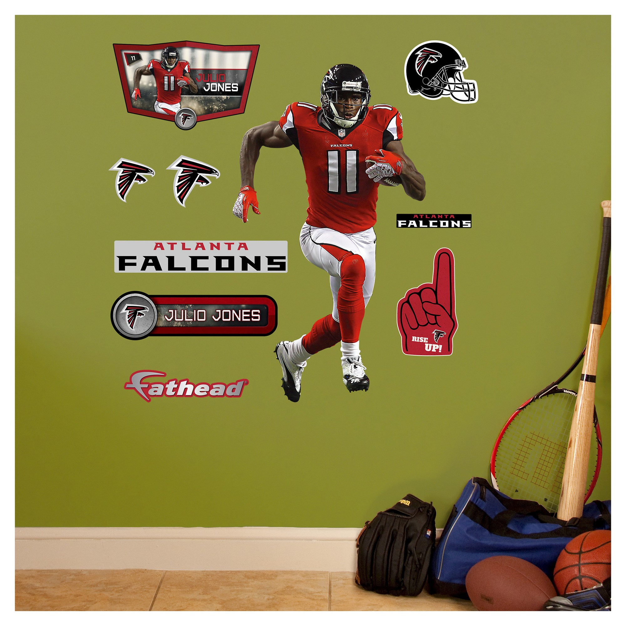 Atlanta Falcons Fathead Decorative Wall Art Set - 40x3\