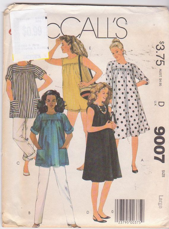 8df70796d7fc5 1980s vintage sewing pattern for maternity by beththebooklady, $8.99