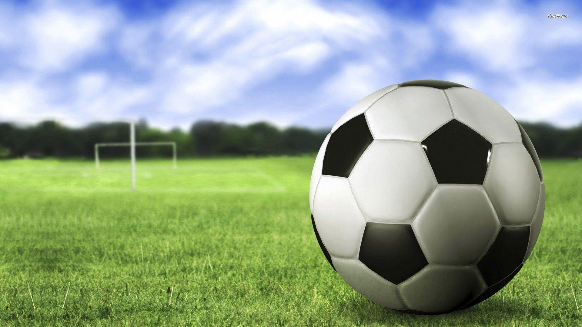 Soccer Ball On Field Hd Wallpapers