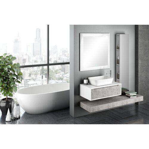 Wade Logan Yatts 1650mm Wall Hung Single Vanity Wayfair Co Uk In 2020 Wall Mounted Cabinet Classic Bathroom Furniture Wall Mounted Vanity