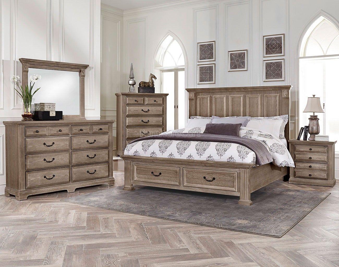 woodlands mansion storage bedroom set driftwood in 2020