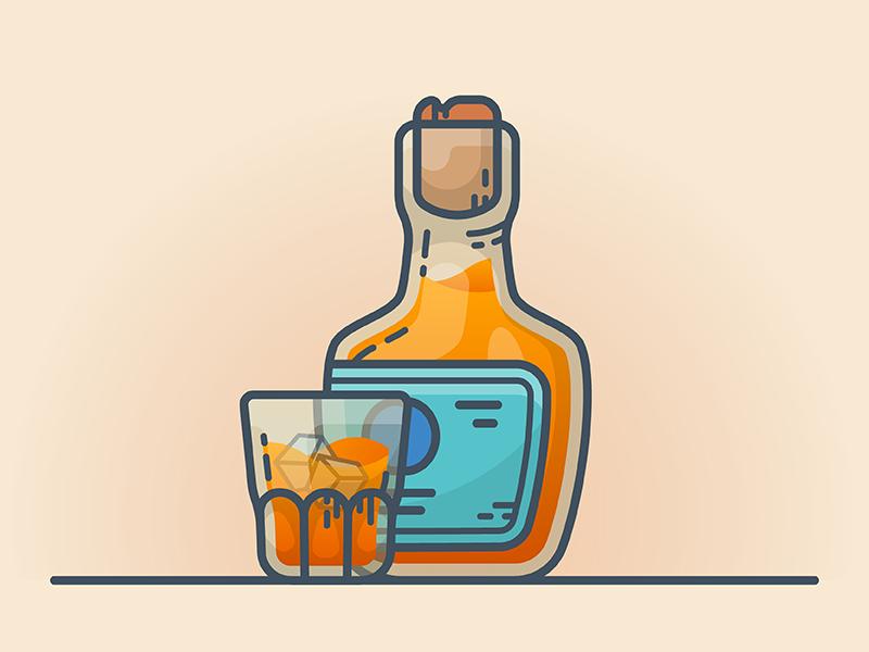 Whiskey Self Portrait Illustration Portrait