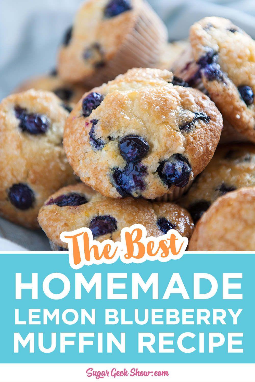 Lemon Blueberry Muffin Recipe Bakery Style Sugar Geek Show Recipe Lemon Blueberry Muffins Recipe Muffin Recipes Blueberry Lemon Blueberry