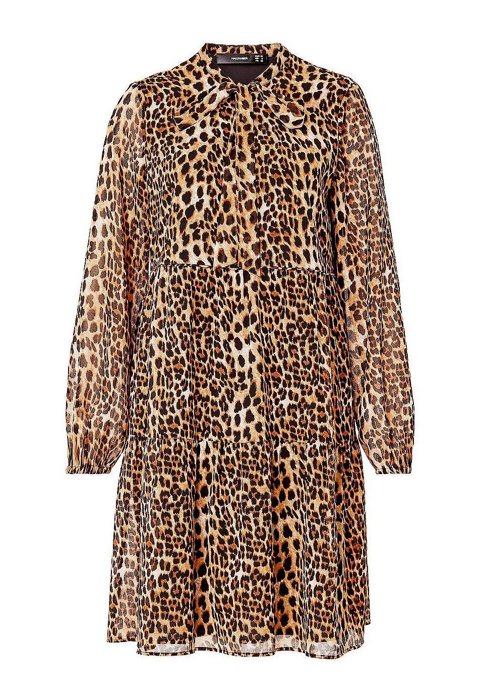 HALLHUBER A-Linien-Kleid #animalprint #leoprint #leopardenmuster
