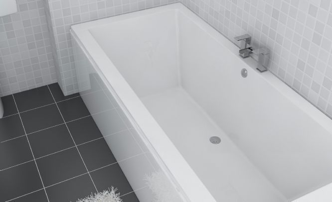 Cubic 1800 x 900mm Double Ended Bath | Bathroom inspiration ...