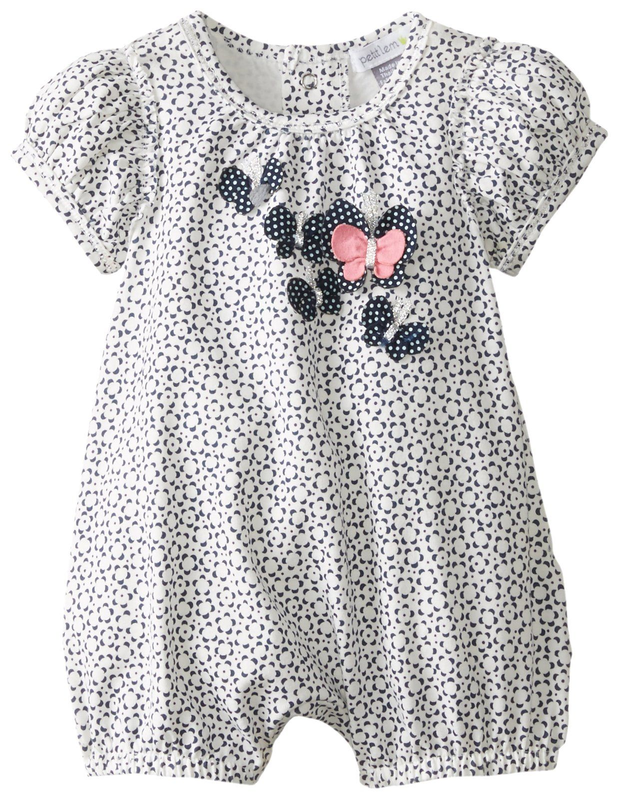 b9d30017c Amazon.com  Petit Lem Baby-Girls Newborn Summer Souvenir Romper ...