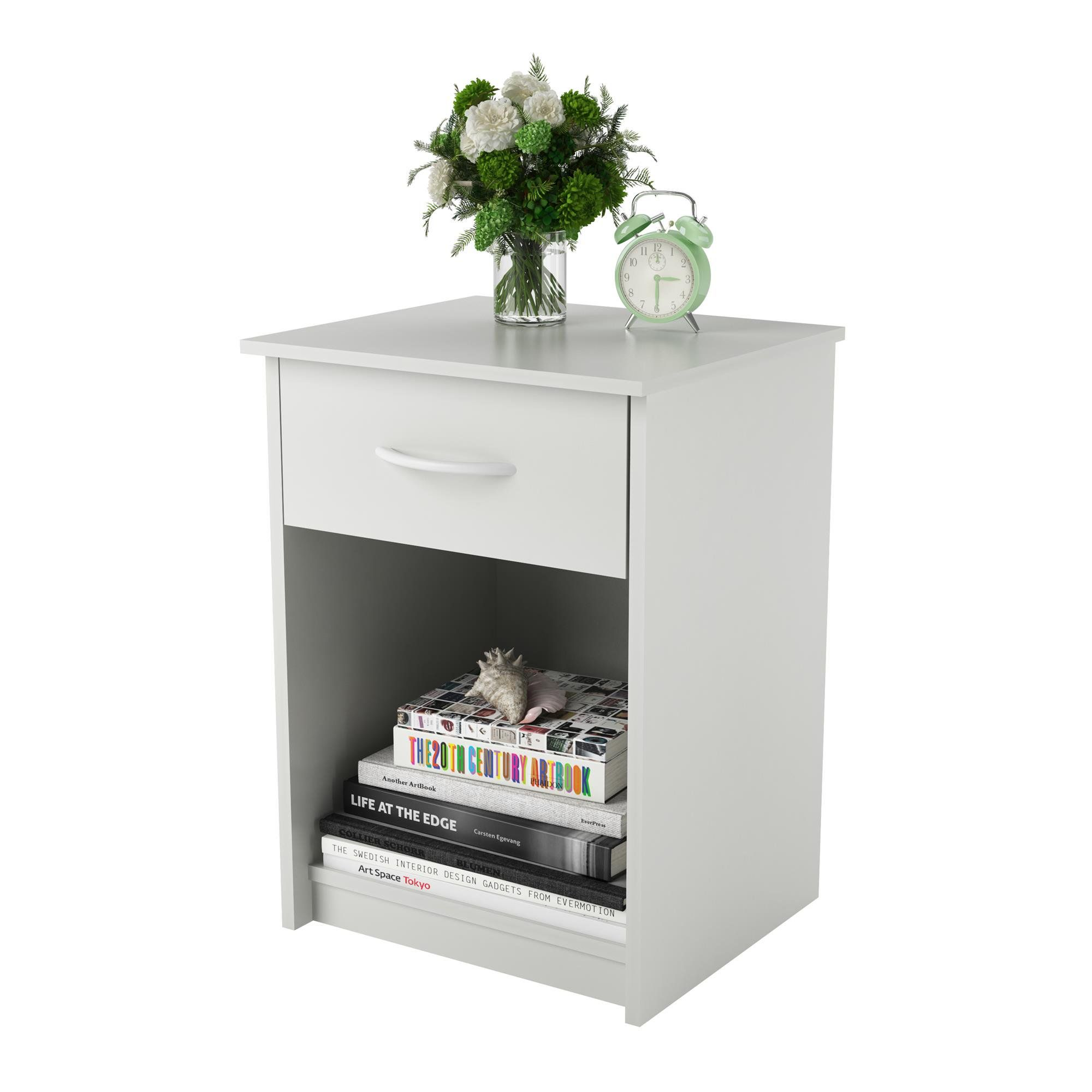 Mainstays Classic Nightstand With Drawer White Walmart Com Altra Furniture Bedroom Night Stands Furniture [ 2000 x 2000 Pixel ]