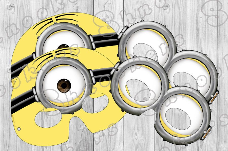 Despicable me 2 inspired printable minion party mask by for Minion mask template