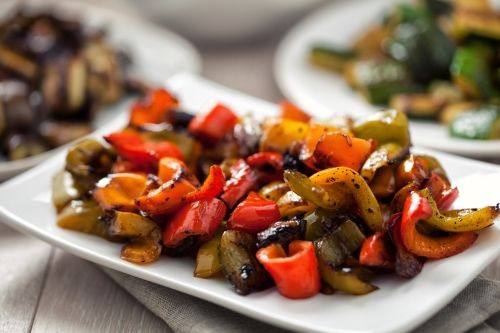 Lamb with Roasted Peppers
