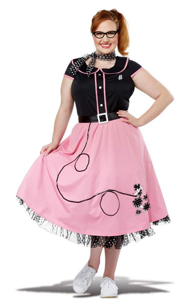 Plus Size Pink 50 s Sweetheart Costume Candy Apple Costumes